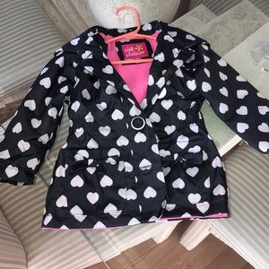 Pink Platinum button up winter jacket